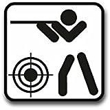 Aufkleber / Sticker - Sportschießen Schild Sportschützen Piktogramm Training Schusswaffen Schießsport Ziel Präzisionssport passend für Opel Astra Audi A6 VW Passat (7x7cm)#A1305