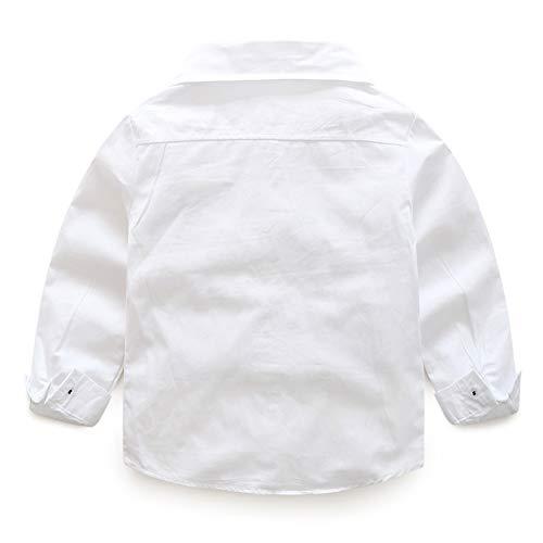 Kimocat Babyanzug Baby Taufanzug Jungen Hemd Hose Anzug Festlich Kinderanzug Hochzeit Anzug Frühling Herbst Bekleidung Set Grau-100cm