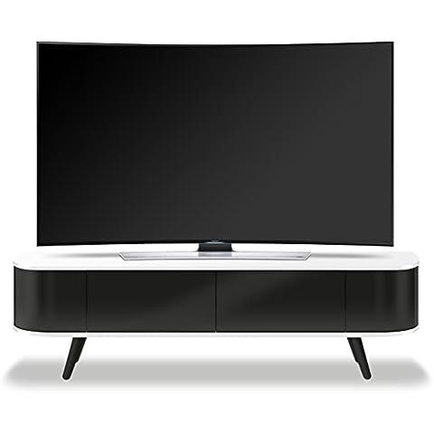 Centurion Supports LOTTE pirógeno-thru remoto uber-Diseño contemporáneo afables blanco brillante y negro brillante 66,04 cm - 132,08 cm pantalla plana TV gabinete