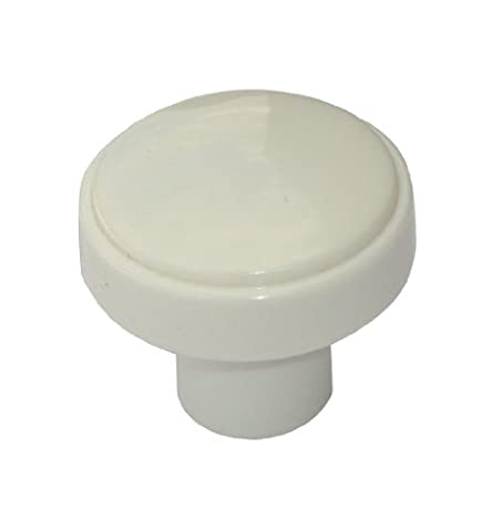 4 x White mushroom 30mm cupboard knobs by Swish.
