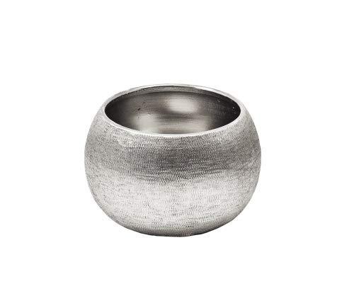 Edzard Bol/Bol Décoratif Longley, en Aluminium, Couleur argentée, diamètre 8 cm, Hauteur 5 cm