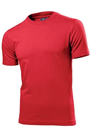"HANES SLIM FIT FITTED T SHIRT - 11 COLOURS S-XXL (XXL - 42/43"", RED)"