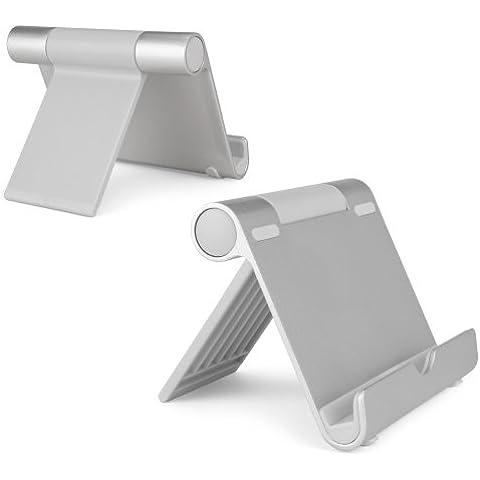 O2 XDA IIi BoxWave Pocket PC teléfono VersaView con función de atril de aluminio - Soporte Universal para Tablet de teléfono móvil ajustable con botón de presión ángulos - construcción de aluminio ligero, y plegable portabilidad - iPad Air, Galaxy Tab, Nexus 7, y muchos