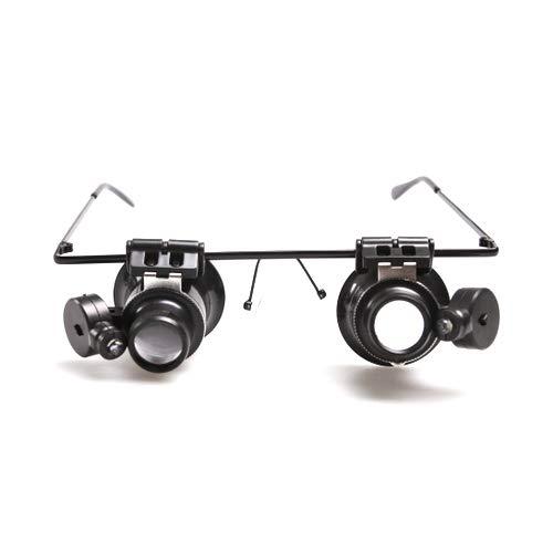 Atoplee Juwelier-Lupenbrille mit LED-Licht für Uhren-Reparatur, 20-fache Vergrößerung