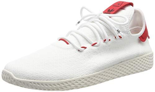 adidas PW Tennis HU, Scarpe da Ginnastica Uomo, Bianco Ftwr Scarlet/Chalk White, 44 EU