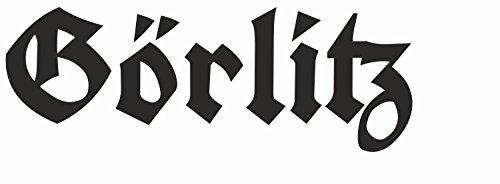 Plott Farbe: SCHWARZ - 4 x 11,5 cm ( HxB ) - Schriftzug Kontur geschnitten - Autoaufkleber Görlitz...