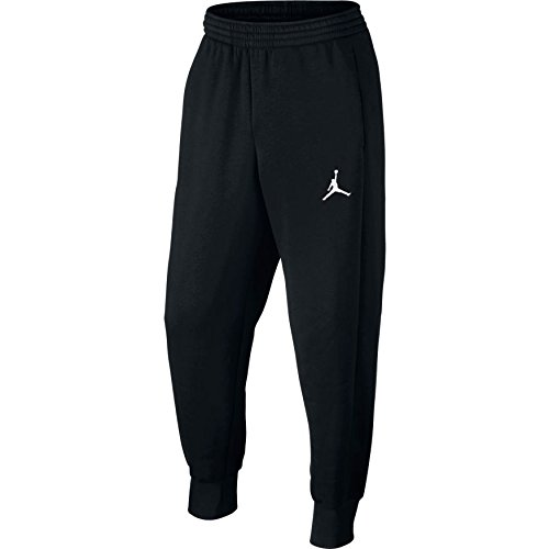 Nike Herren Flight Fleece Woven Cuffed Hose, Black/White, M (Herren Nike Fleece Hose)