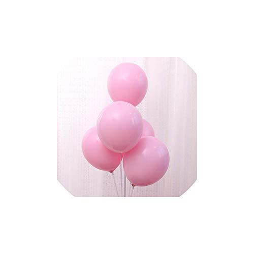 10pcs Pastelllatexballons Sortierte Süßigkeit-Farben-romantische Hochzeit verdicken Ballon-Babyparty-Abschluss-Geburtstags-Party, Baby-Rosa, 10inch (Keine Süßigkeiten Halloween Brief)