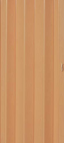 Falttür Schiebetür Tür buche farben Höhe 202 cm Einbaubreite bis 84 cm Doppelwandprofil Neu TOP-Qualität