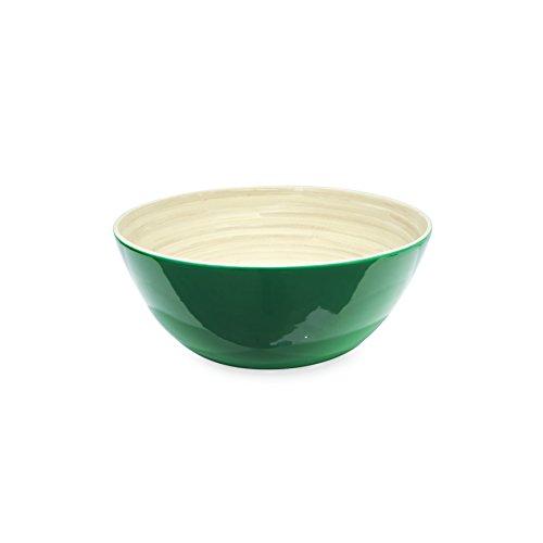 Saveur et degustation ka1532 -ciotola in bambù, 25 x 25 x 12 cm, colore: rosso/blu/verde