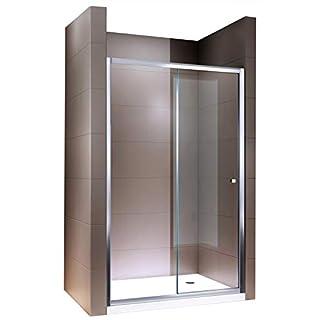 Duschabtrennung Schiebetür NANO Echtglas EX505 - Klarglas - Höhe 195cm - Breite wählbar, Breite:1100mm