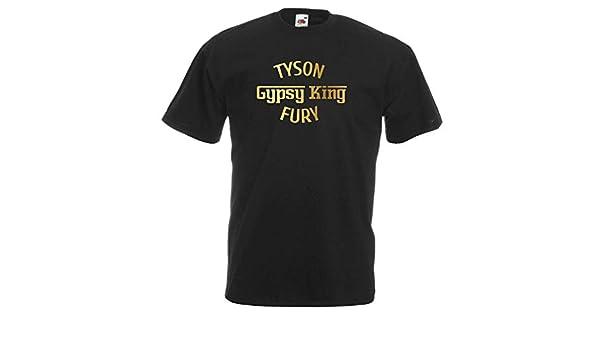 3732cebec Unisex Black Tyson Fury Gypsy King T-Shirt Shirt Boxing: Amazon.co.uk:  Clothing