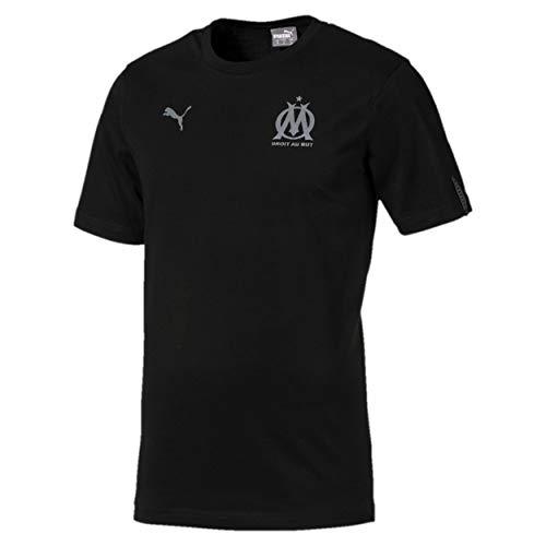 Puma Olympique de Marseille Fan Slogan Tee T Shirt Homme, Black, FR : S (Taille Fabricant : S)