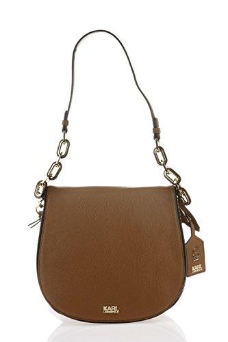 Karl Lagerfeld , Sac pour femme à porter à l'épaule marron marron