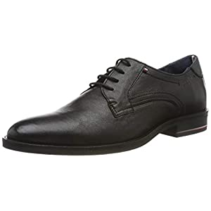 Tommy Hilfiger Herren Signature Hilfiger Leather Shoe Derbys