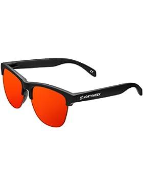 Northweek Gravity Flaka - Gafas de Sol policarbonadas, Negro/Rojo