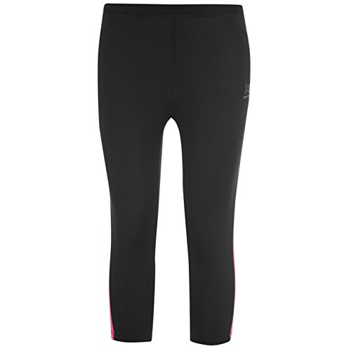 Karrimor Kids Run Capri Tights Girls Breathable Training Running Jogging Sport Black/Pink 13 (XLG)