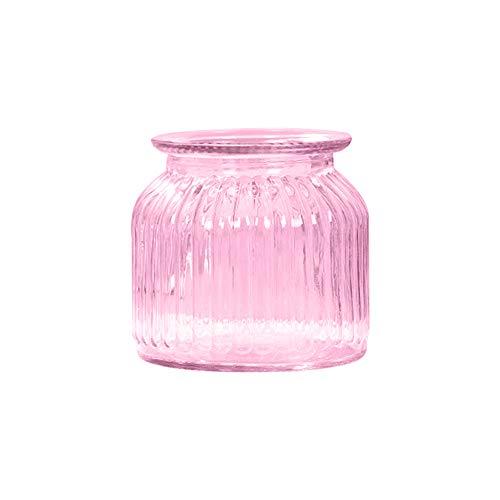 Gespout Vase en Verre Transparent Décoration Bande Verticale Design Mariage Banquet Fête Décor Accessoires de Composition Florale Ornements pour Maison Bureau Salon Jard