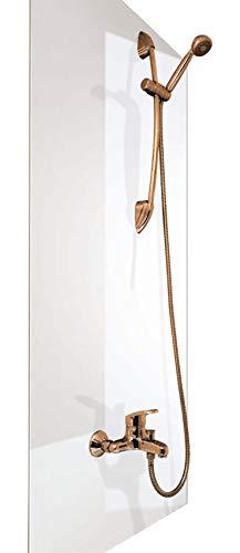 A+H Duschrückwand Wandverkleidung aus hochwertigem PVC, Alternative zu Aluverbund Platten, verschiedenen Farben, 200 x 100 cm
