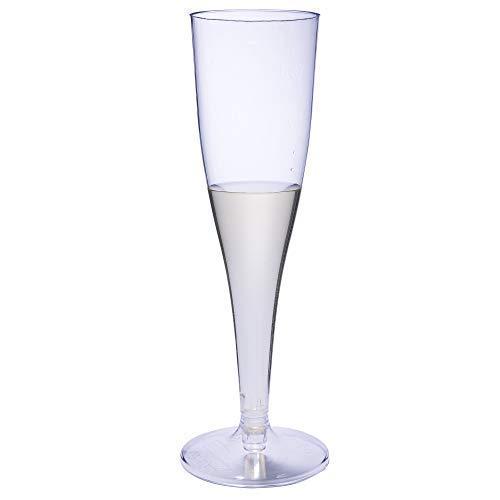 Paquete de 50 copas de champán desechables de plástico de 100 ml.
