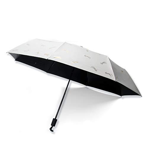 IOFESINK OUTDOOR Reisesonnenschirm, Mini-Baldachin mit manueller Steuerung, UV-Schutz gegen Sonneneinstrahlung, Regen- und Regenschirm (Color : A)