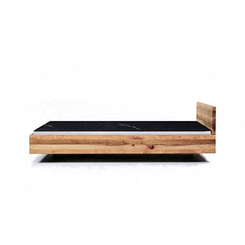 MAZZIVO Pool Hochwertiges Holz Bett Schlicht & Zeitlos filigran Modern Edel & Elegant - Italienisches Design 120 140 160 180 200 Überlänge Eiche Erle Buche Esche Kirschbaum (Buche, 120 x 220 cm) -