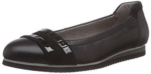 Gabor Shoes 43.101 Damen Geschlossene Ballerinas, Schwarz (27 schwarz(+Sohle)), 39 EU
