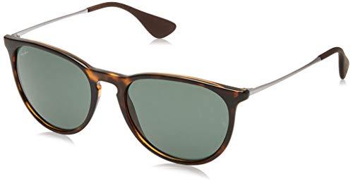 RAYBAN Unisex Sonnenbrille Rb4171, Braun (Gestell: Havana/Gunmetal, Gläserfarbe: grün klassisch 710/71), Medium (Herstellergröße: 54)
