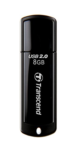 Transcend JetFlash 350 USB 2.0 8GB Pen Drive (Black)