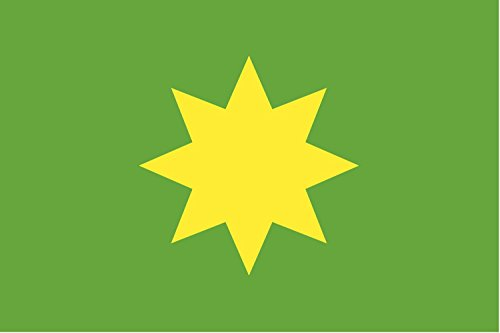magFlags Flagge: XL Deutschen Argo Reederei gegründet 1896 in Bremen ein gelber achtzackiger Stern auf grünem Grund | Querformat Fahne | 2.16m² | 120x180cm » Fahne 100% Made in