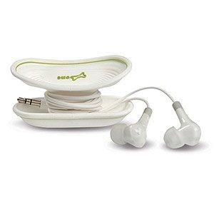 Bone Collection H1 Kopfhörer mit Kabelwickler in Knochenform Ipod Nano Mic