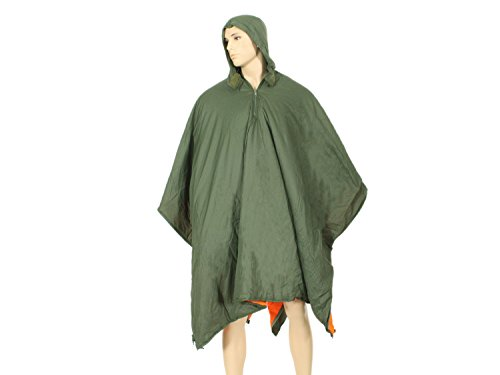 BE-X FronTier One Poncho Liner aus 30D Ripstop Nylon & Primaloft - mit Schlafsack Funktion Poncho Liner