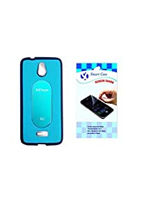SMART CASE BACK COVER WITH SCREEN GUARD FOR INFOCUS M2-SKYBLUE