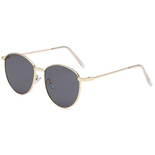 FeiliandaJJ Metall Sonnenbrille Damen Herren Brillenfassungen, Mode Vintage Punk-Stil Sonnenbrille Retro Unisex Sunglasses (B)