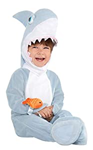 amscan 9902089Disfraz bebé tiburón, 6-12Meses