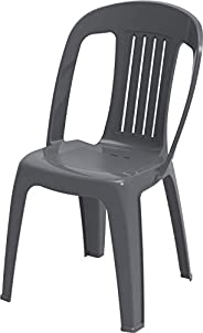 Cosmoplast IFOFXX004CG Contessa Chair for Indoors and Outdoors, Plastic, 2.2-kg, Cool Grey, W 46.0 x H 85.0 x