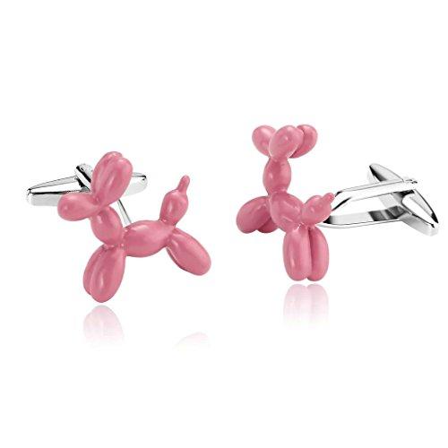 epinki-homme-acier-inoxydable-brillant-ballon-jouet-chien-chiot-rose-boutons-de-manchette-affaires