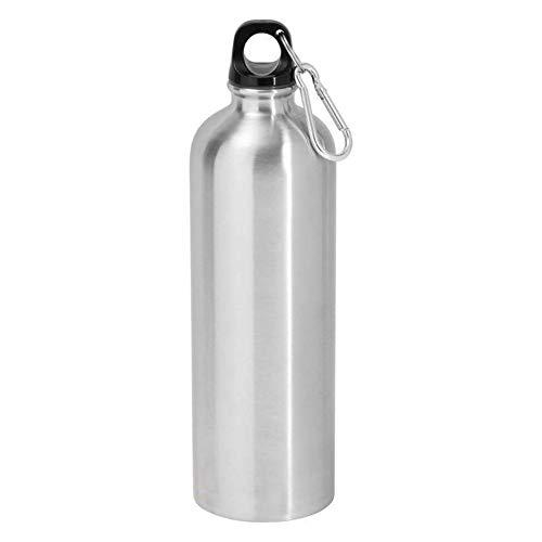 Occitop Aluminium Tragbare Outdoor Bike Sport Wasser Flasche Trinken Wasserkocher mit Deckel, Wie Abgebildet, Silver/500ml -