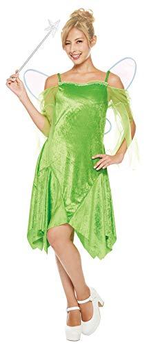 Disney Peter Pan Tinkerbell-Kostuem-Damen 155cm-165cm 802536 (Dame Peter Pan Disney Kostüm)