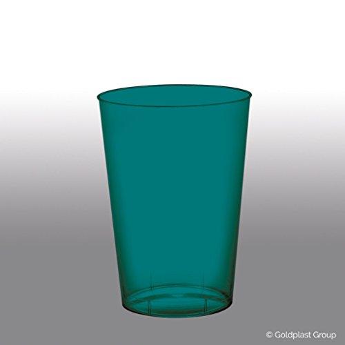 Verres coniques Moon plastique PS 200 cc cfz 50pz Teal Green Trasparente