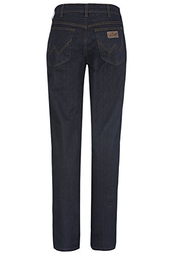 Wrangler - Texas Stretch Blue Black, Jeans da Uomo Dunkelblau
