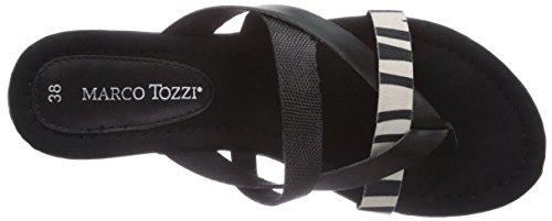 Marco Tozzi 27106, Sandales  Bout ouvert femme Mehrfarbig (Black Comb / 98)