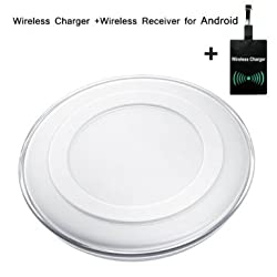 Wireless Charger Ultra- Slim Qi Wireless Charging Pad with Light Indicator for All Qi-enabled Devices White