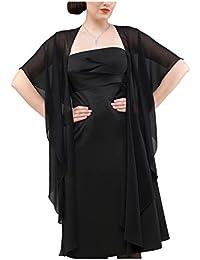 Gasa de novia o de noche estola chal wrap - CHIFFON - Forma Circular Evita deslizante