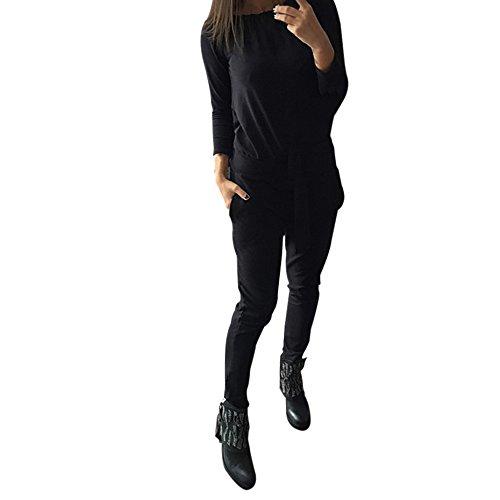 BOBORA Donna vestiti Set manica lunga tinta Slash collo camicia + Sweatpant
