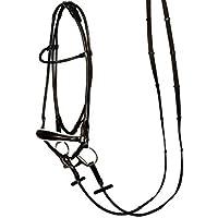 Harry's Horse Hannoveranische Trense rund genäht Leder schwarz (Warmblut)