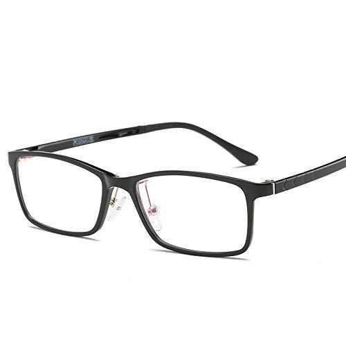YMTP Quadratischer Transparenter Gläserrahmen Unisex Tag-Titan-Klare Brillen Gestaltet Frauen- Und Mannschauspiele Für Myopie, Schwarz