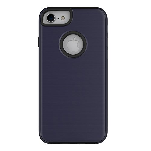 iPhone 6 Plus/6S Plus 5.5 Coque, Voguecase [TPU+PC]Silicone Shell Housse Coque Étui Case Cover Coque de protection double couche pour Apple iPhone 6 Plus/6S Plus 5.5 Revêtement effet brossé du panneau Bleu foncé