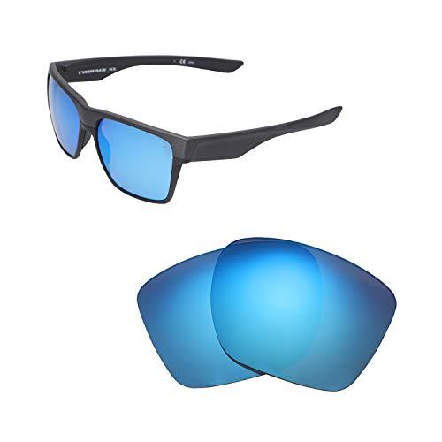Walleva Ersatzgläser für Oakley TwoFace XL Sonnenbrille - Verschiedene Optionen erhältlich (schwarz - polarisiert), Unisex-Erwachsene, Ice Blue Coated - Polarized, Einheitsgröße