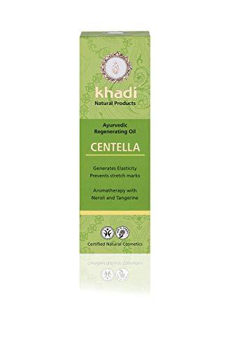 khadi Centella Körperöl 100ml I natürliches Gesichts & Körperöl für neue Festigkeit der Haut I mindert Dehnungstreifen und Narben I ayurvedisches Massageöl I 100% pflanzlich -
